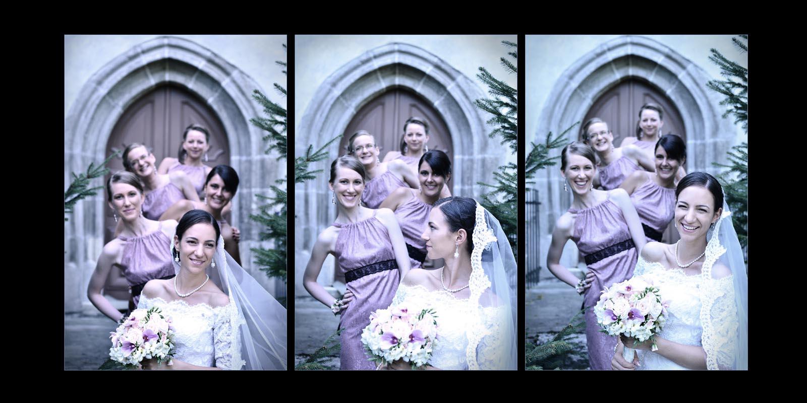 Sedinta foto nunta cu fetele de onoare