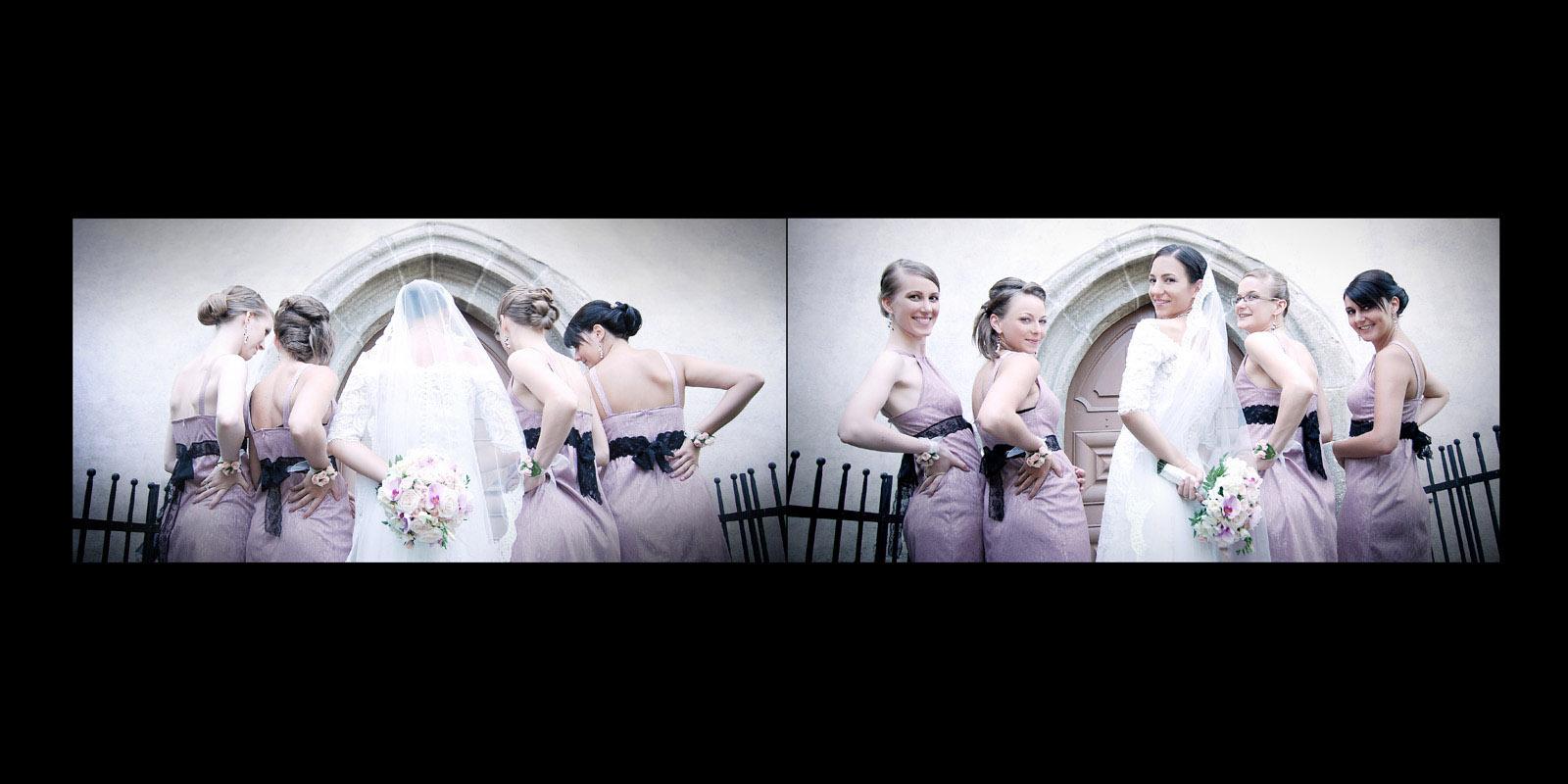 Sedinta foto de nunta cu fetele de onoare