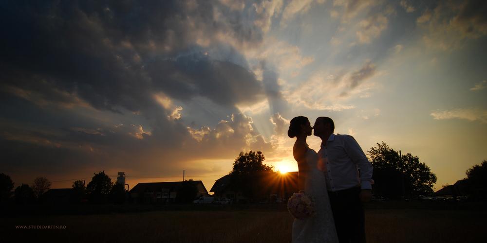 Fotografie de nunta apus superb