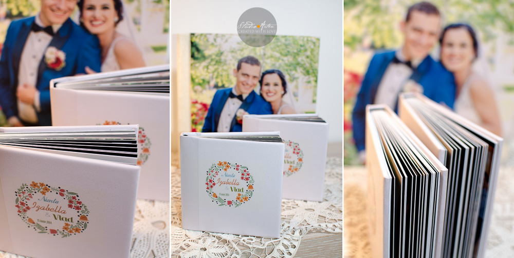 Album de nunta digital, legat in piele, personalizat, coperta cu fotografie