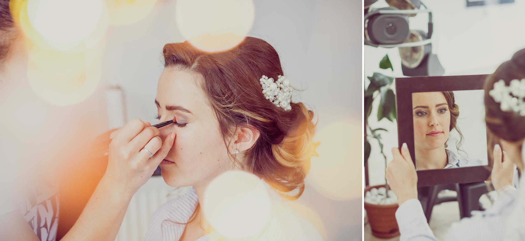 fotografie nunta, pregatirea miresei, miresa la machiaj, fotograf nunta