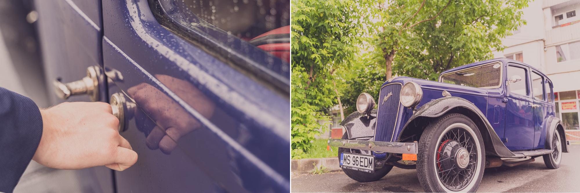 fotografie nunta, masina de epoca, masina clasica de nunta